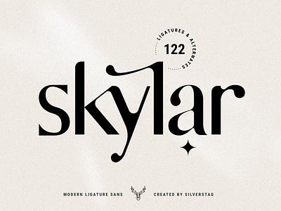 skylar - modern ligature sans font instagram stories modern social media instagram social pack instagram pack elegant products creative creative market