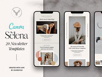 Selena - Canva Newsletter Templates