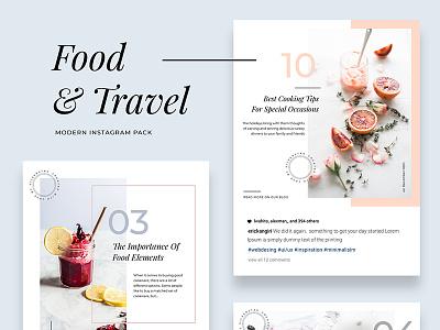 Modern Food & Travel Instagram Pack products instagram stories social pack creative market instagram pack social media instagram