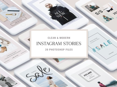 Clean And Modern Instagram Stories