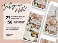 Instagrid 7 - Instagram Puzzle Template