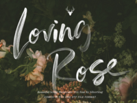 Loving Rose - SVG Watercolor Font