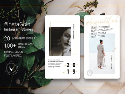 #Instagold - Minimal Gold Instagram Stories