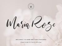 Maria Rose Elegant Handwritten Script Svg Font