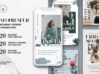 01 new infopreneur instagram pinterest facebook social media pack
