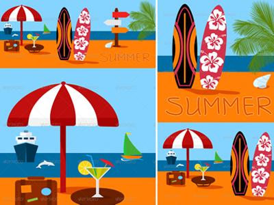 Summer vector illustration 2