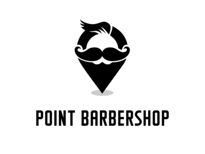 Point Barbershop Logo Template ragerabbit vintage retro hipster beard moustage barbershop logo template pin point