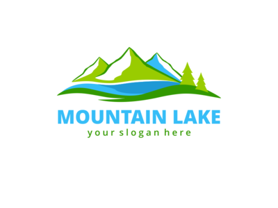 Mountain Lake Logo Template water lake forest green abstract ragerabbit nature hotel logo template mountain lake