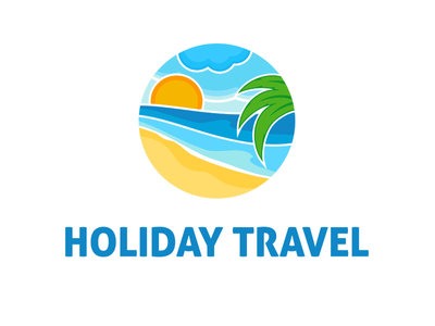 Holiday Travel Logo Template island summer ragerabbit abstract travel agency logo template travel holiday