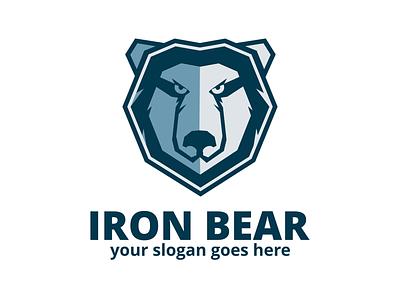 Bear Logo sport fitness icon bear head angry animal ragerabbit vector logo template bear logo
