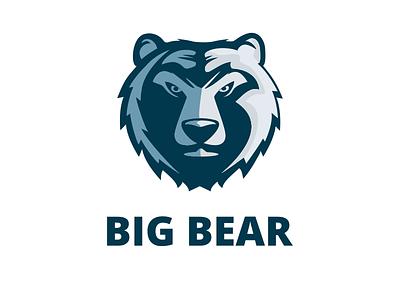 Big Bear Logo  ragerabbit team sport brand bearhead logo bear