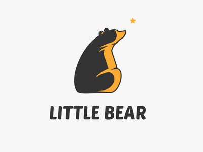 Little Bear Logo petya hadjieva ragerabbit whish hope kid animal for sale bear logo little bear