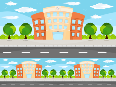 Building Vector Game Background trees town city background ragerabbit tileable game assets vector building