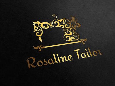 Sewing Machine Logo Template silhouette ornaments luxury royal vintage ragerabbit handmade logo sewing machine logo template