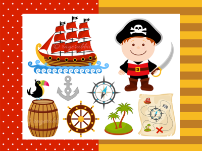 Pirate Boy Vector Illustration toucan pirate ship ragerabbit kids illustration vector pirates