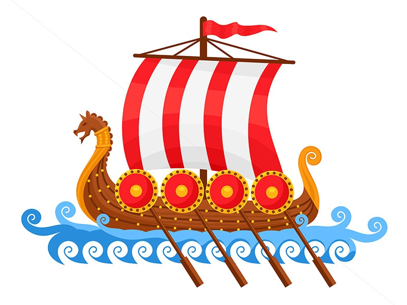 Viking Ship Vector Illustration by Petya Hadjieva (Ivanova ...