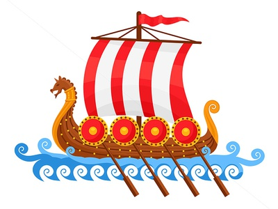 Viking Ship Vector Illustration ragerabbit cartoon vector illustration viking ship vikings