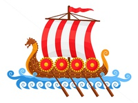 Viking Ship Vector Illustration