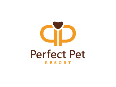 Perfect Pet Logo ragerabbit monogram love heart organisation shelter hotel dog pet logo exclusive unique