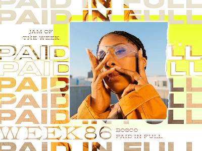 Jam Of The Week | 85 design album art photoshop typography forfun bosco music jam roguestudio jamoftheweek