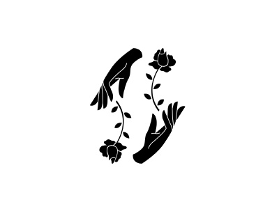 Botanical Brandmark identity design icon mark illustration vector branding botanical hands floral brand identity identity brandmark logo