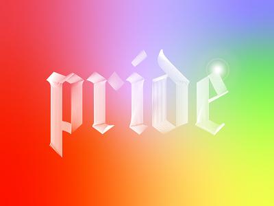 Happy Pride! lgbtq color typography type pridemonth pride pride 2020