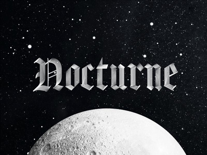 Nocture Typeface la lune moon type design nocturne typography type designer typefacedesign typedesign type typeface