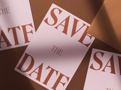 Save The Date big typography big type roslindale collaboration collateral edge painting printed material printed invitations print design savethedate save the date wedding invite wedding invitation type typography