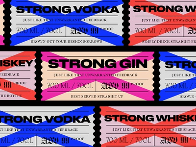 Strong Spirits | Passion Project drinks beverage packaging label strong wip passion project passion vodka whiskey gin label packaging label design beverage packaging spirits
