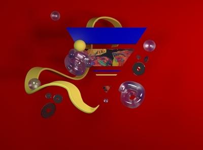 Primary and Pattern '94 3d artist branding design 3d modeling 1990s 3d art