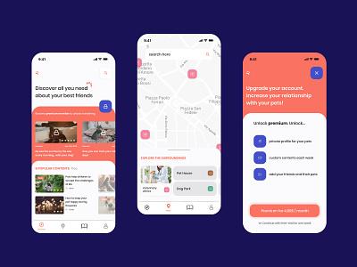 Pets Caring app | Contest app concept modern minimal slider premium app ui shot activities app design mobile interfaces app