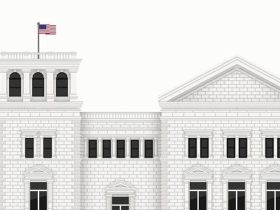 Charleston Post Office miniature illustration architecture charleston building