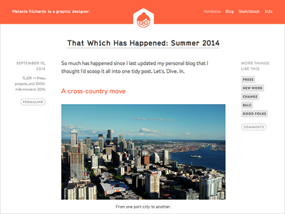 Minor Redesign website web design blog
