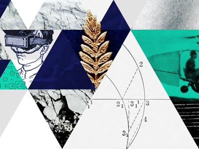 Collage illustration for Intercom illustration collage