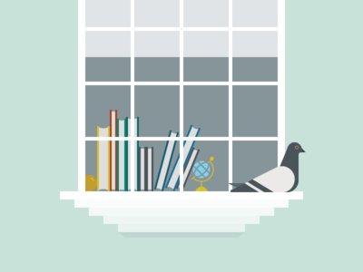 A very scholarly pigeon library pigeon illustration vector