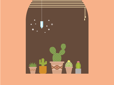 Cacti friends crystal cactus cacti illustration vector