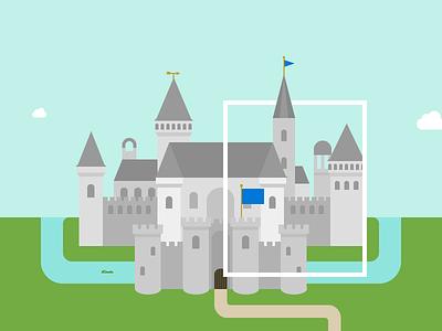 Wee castle illustration castle