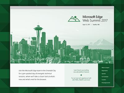Microsoft Edge Web Summit Site web website
