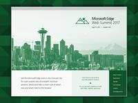 Microsoft Edge Web Summit Site