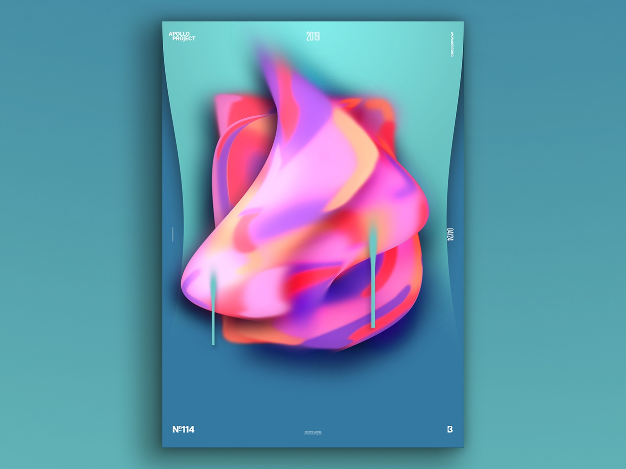 Proximity Poster #114 contemporary modern geometric geometry colorful abstract design experiment photoshop poster art speed art conception process creation creativity design challenge challenge poster design poster graphic designer graphic design