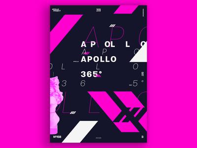 Oblique Pink Poster #158