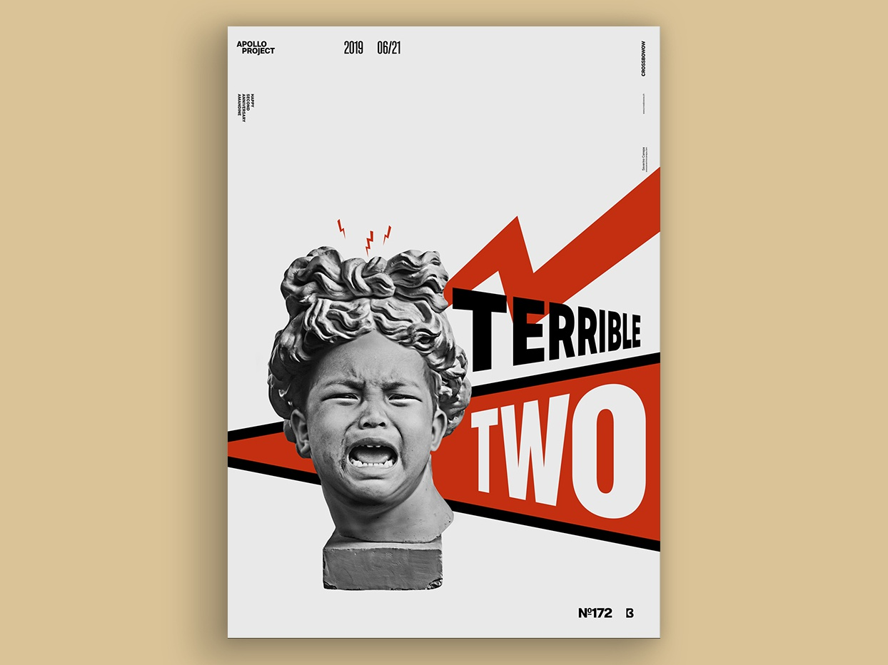Terrible Two Poster #172 fun photo montage russian constructivism poster creation digital art design experiment photoshop inspiration poster art speed art conception process creation creativity design challenge challenge poster design poster graphic designer graphic design