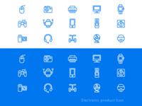 Icon exercises for electronic products. I hope you like them.