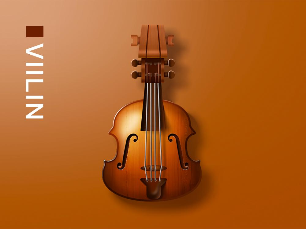 Violin Drawing ui 色彩设计 设计 插图 组成
