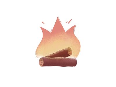 Campfire toronto logo apple pencil procreate camping logs campfire fire illustration