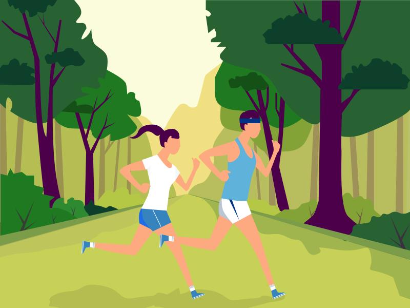 Run illustration