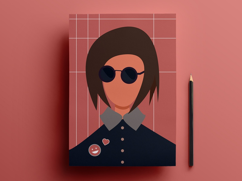 Pride | Flat Illustration | Funky Girl | Cool