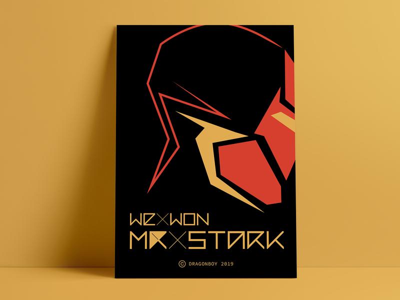We Won Mr. Stark | Avengers Endgame Poster superheros marvel illustration flat  design geometric font geometric art vector wall art poster art poster a day poster design tony stark stark iron man avengers endgame avengersendgame