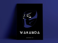 Wakanda Forever | Black Panther Poster Design [Wall Art Minimal]