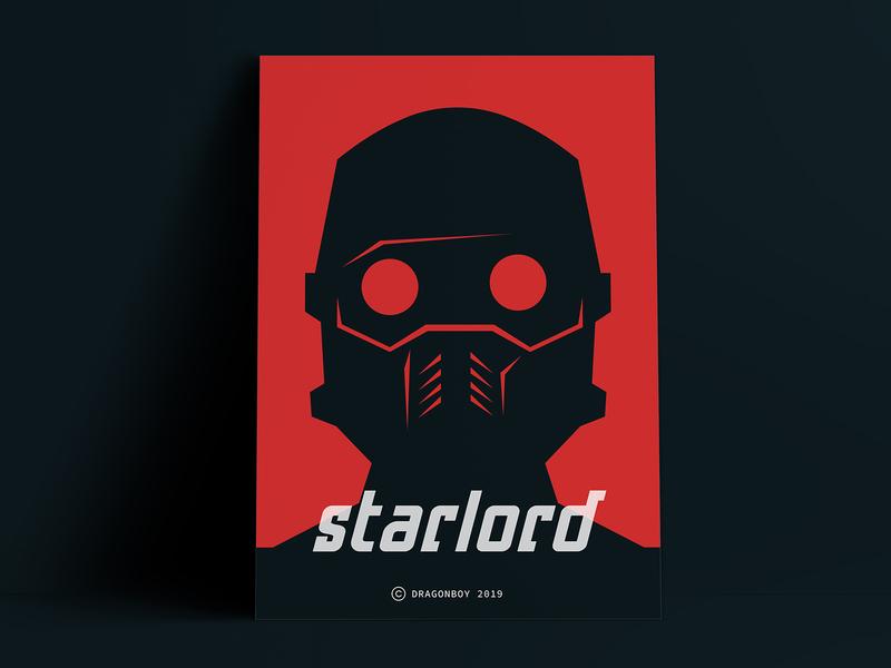 Guardians of the Galaxy Star-Lord superhero illustration black minimal neo-minimalism neo-minimalism poster art starlord star-lord star lord guardians of the galaxy